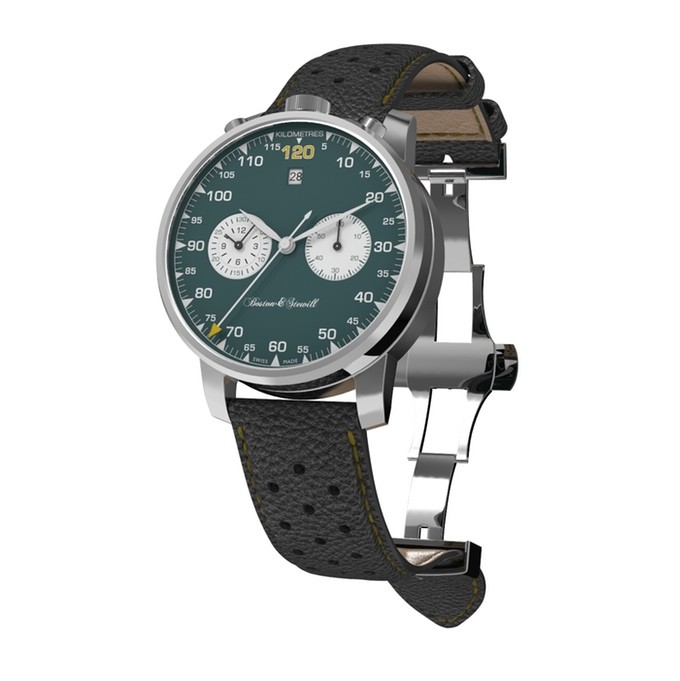 Boston and stewill green dial micro brand watch