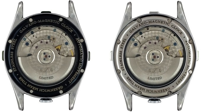 Greenwich time gate microbrand watch back