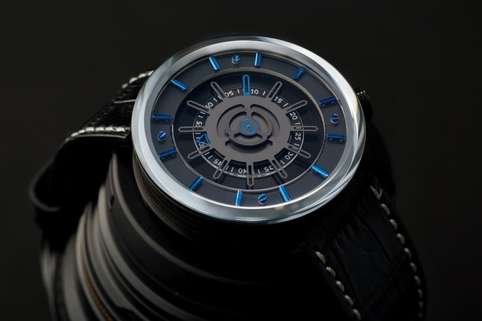zelos cosmos micro brand watch blue