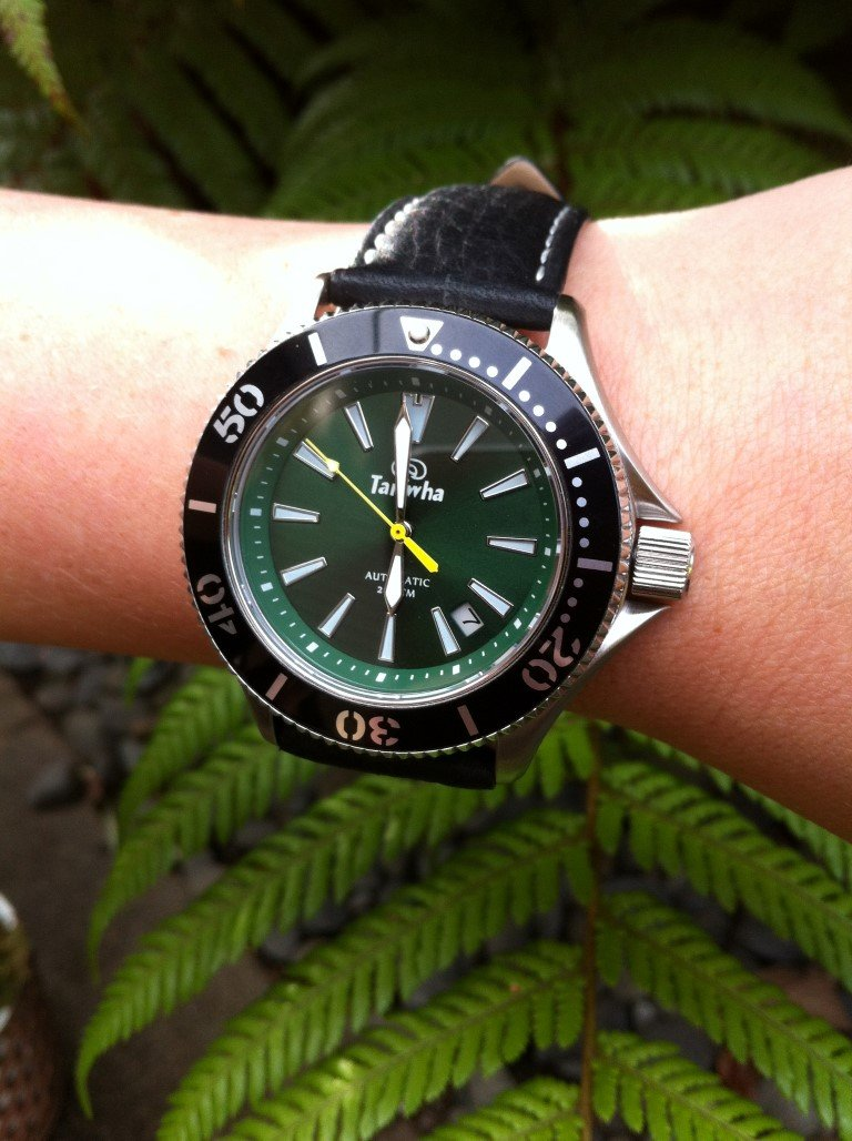 Ururoa dive watch by Taniwha Watches