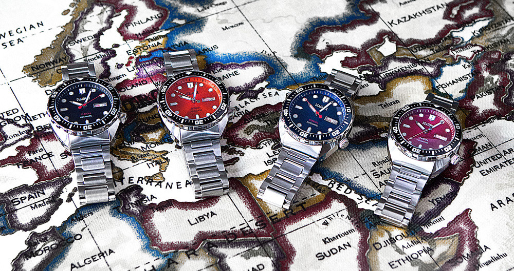 Deaumar ensign all dials kickstarter watch