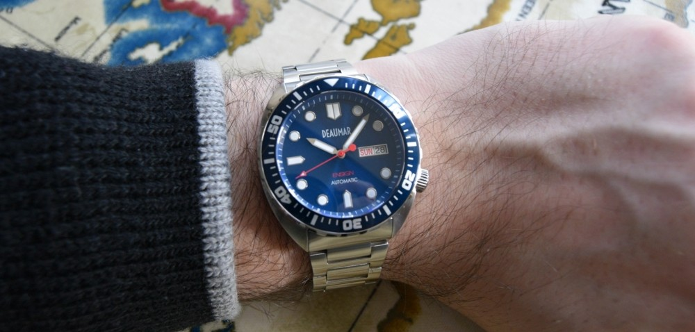 Deaumar ensign blue dial kickstarter watch