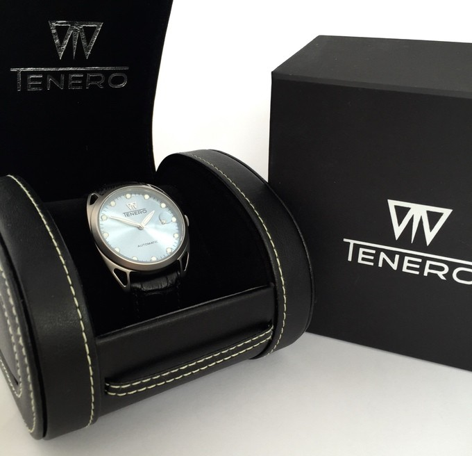 Tenero Automatic Kickstarter watch boxed