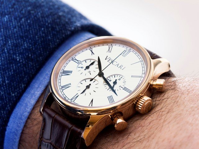 Vescari Watch Co Dress Chronograph