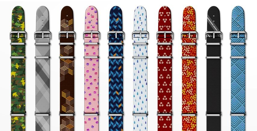 Vario watch strap designs