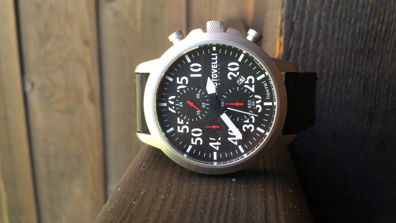 Hands on Review – Chotovelli Aviation Chronograph Watch