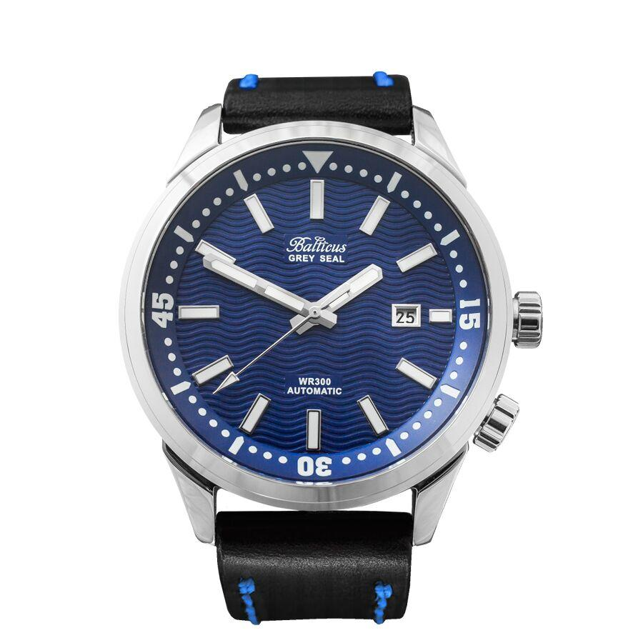 grey seal blue dial