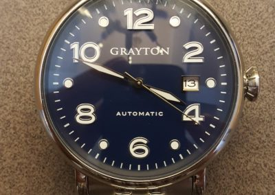 Grayton watch dial close
