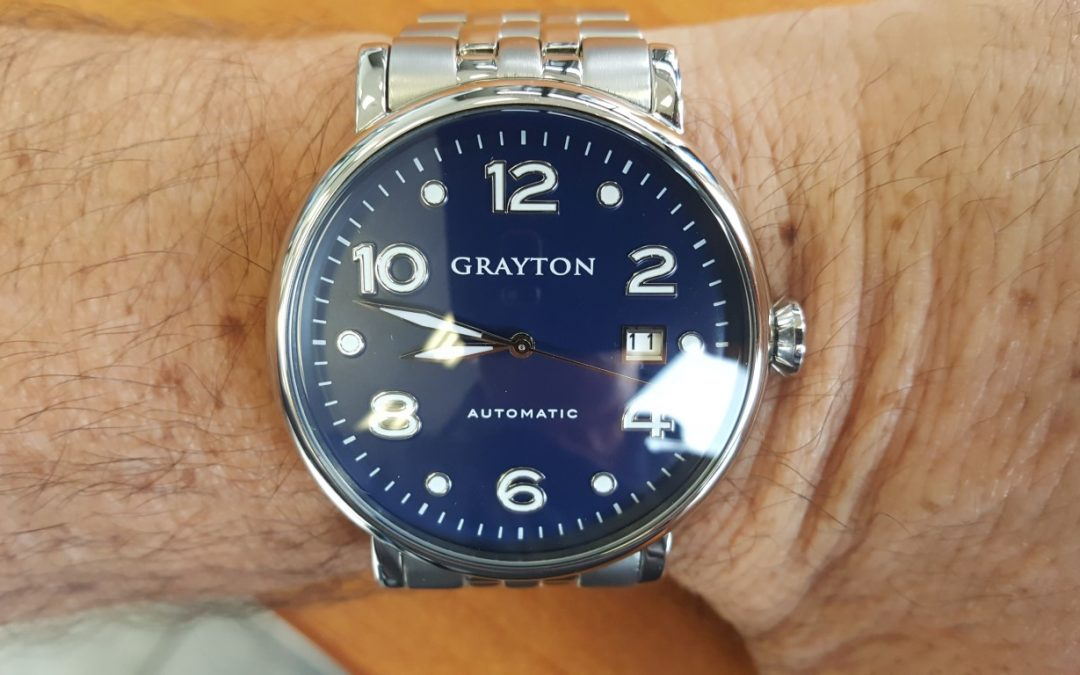Hands on – Grayton Men's Automatic Satin Blue Stainless Steel Watch