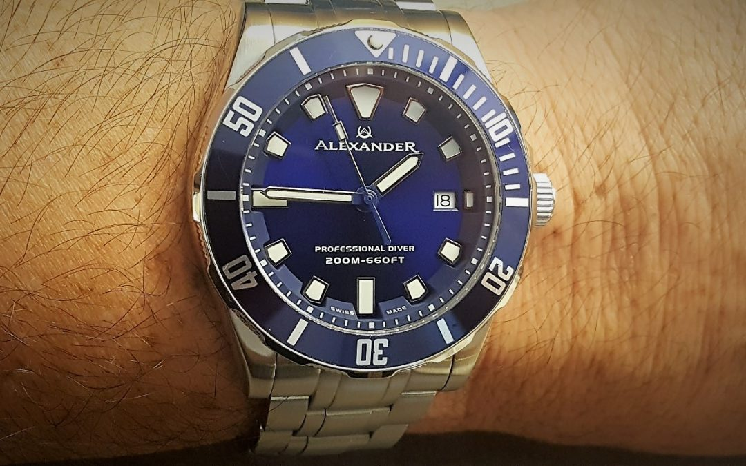 Review – Alexander Vathos A501B-02 quartz 200M dive watch