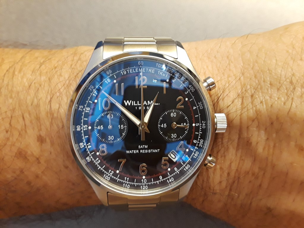 Review william l chronograph and calendar watches microbrand watch world for Calendar watches
