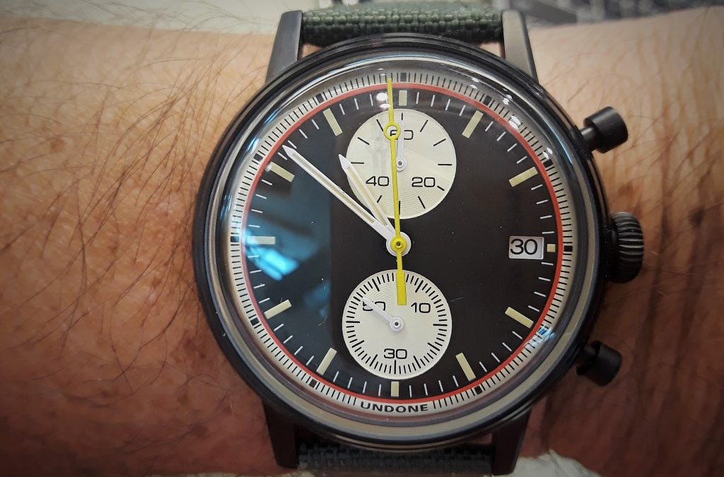 Review – Undone Vintage Newman Hybrid Mechanical Quartz Chronograph