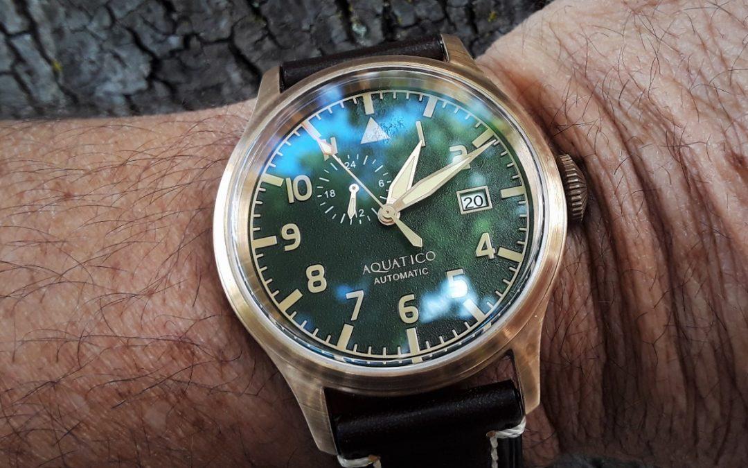 Review – Aquatico Bronze Blue Angels Green Dial