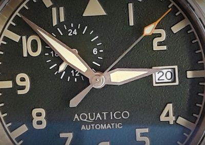 Aquatico Bronze Blue Angels Green Dial watch 13