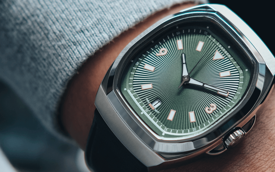 Islander: BADGER Watches debut with a modernistic Tonneau-shaped watch