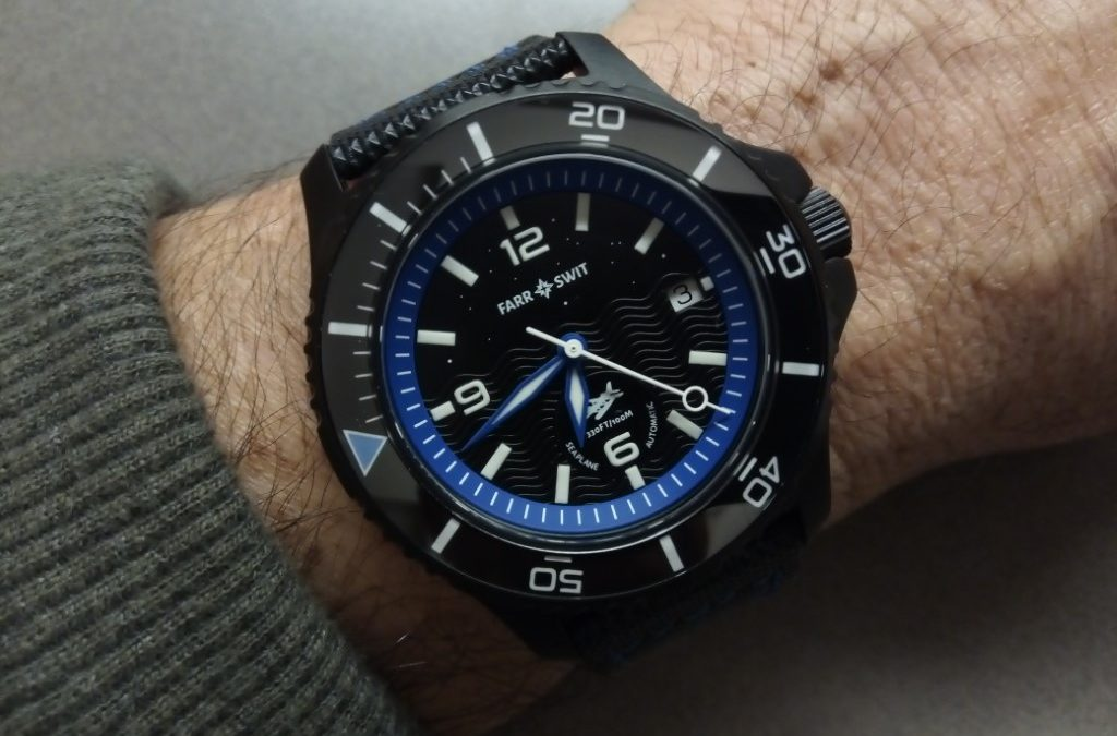 "Review – Farr + Swit Seaplane Automatic ""Midnight Landing"" and ""Day Trip"" Sport/Dive Watches"
